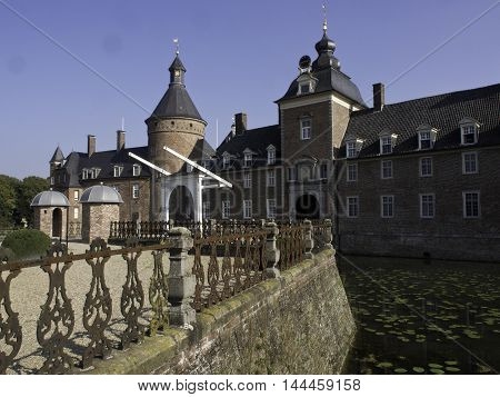 the Castle of anholt in the german muensterland
