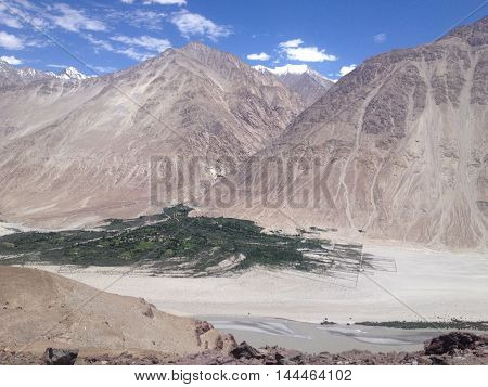 Nubra Valley is one of the Greenest valleys in Leh Ladakh India