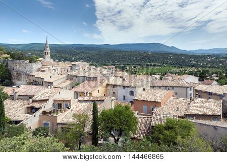 View of Saint Saturnin d Apt Provence France.