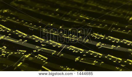 Yellow Music Notes