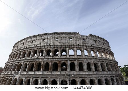 The Colosseum also called Flavian Amphitheatre in Rome Italy