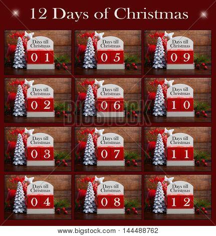 Twelve Days Til Christmas Collage.