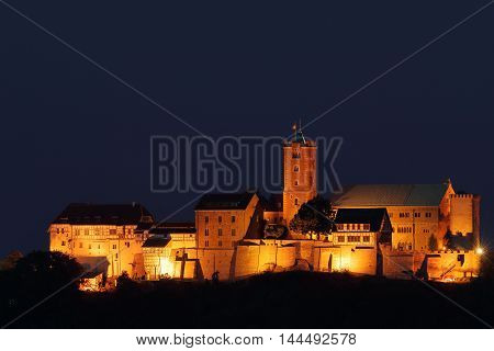 The Wartburg Castle at Eisenach in Germany