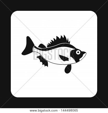 Ruff fish icon in simple style isolated on white background. Inhabitants aquatic environment symbol