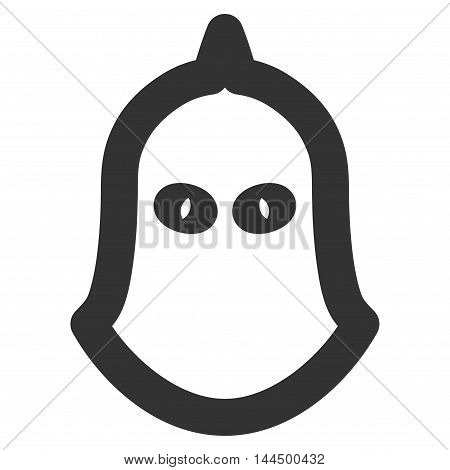 Executioner Helmet vector icon. Style is linear flat icon symbol, gray color, white background.