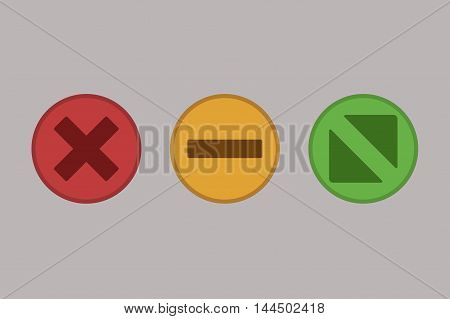 Web Buttons Illustration