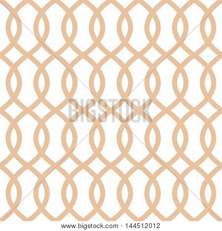 Seamless trellis pattern in apricot color. Trellis seamless background texture. Pops print with undulating curved lines. Seamless textured background. Great for interior design wallpaper fabric.