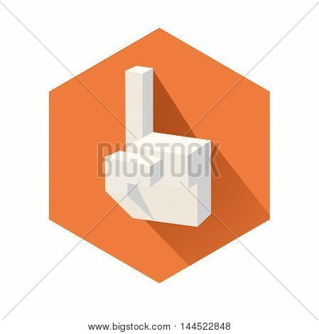 This is an illustration of cubic pointing hand