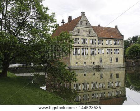 the Castle huelshoff in the german muensterland
