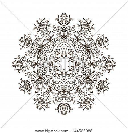 The original circular pattern. Mandala vector background. Abstract circular pattern. Abstract round mandala. Abstract vector background with a circular pattern. Vector illustration.