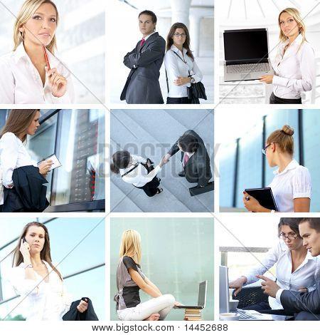 Geschäft Collage hergestellt aus neun Geschäft-Bilder