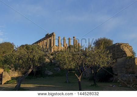 Greek Ruins Of Temple