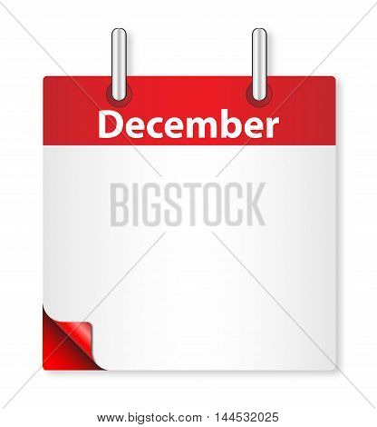A calender date offering a blank December page over white