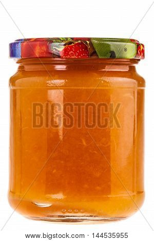 Orange Jelly Jar Isolated