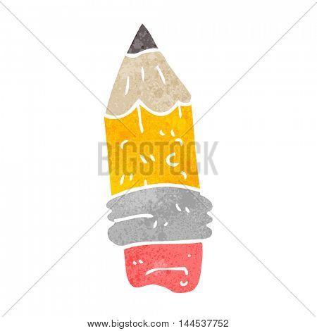 freehand retro cartoon pencil stub