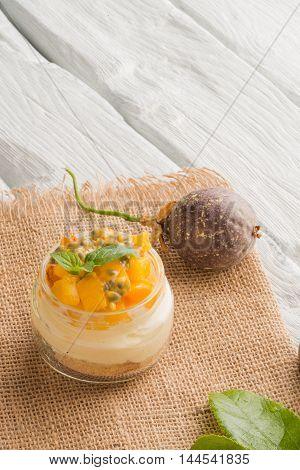 Desert With Yogurt And Passion Fruit