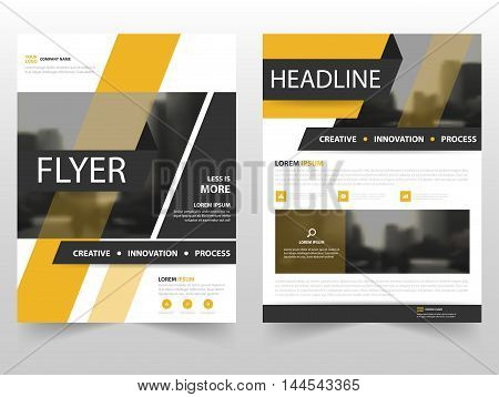 Yellow black business Brochure Leaflet Flyer annual report template design book cover layout design abstract business presentation template a4 size design