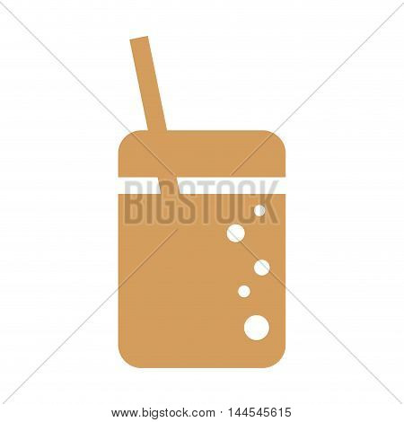coke soda drink beverage fast food icon. Flat and Isolated design. Vector illustration