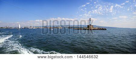 Landscape view of cape Galata, Varna bay, Black sea coast, Bulgaria