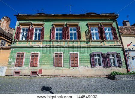 Tenement house in Sibiu city in Romania
