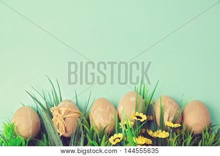 Easter holiday background with retro filter effect