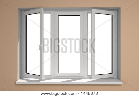 Window Plastic Opened