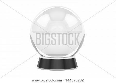 crystal ball 3D rendering isolated on white background
