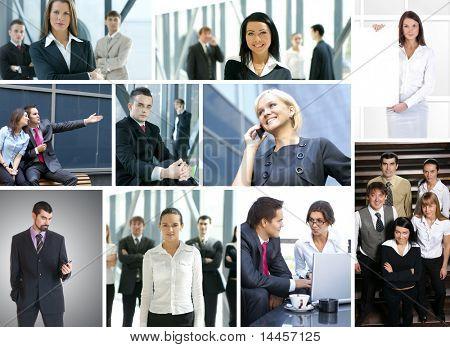 Business-Collage von vielen Business-Bilder hergestellt
