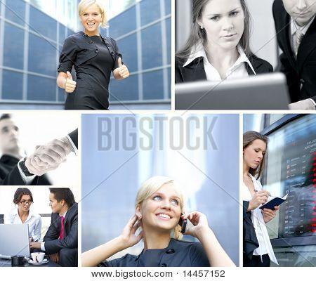 Geschäft Collage gemacht, einige helle Bilder