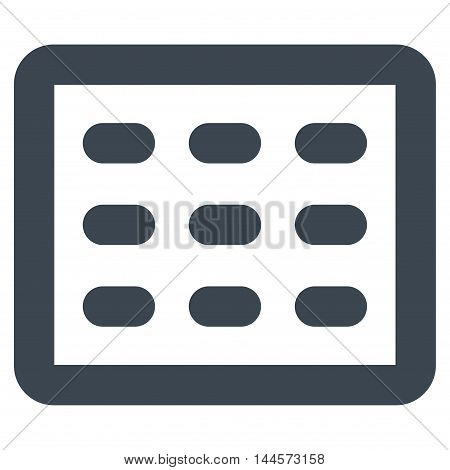 Table Grid vector icon. Style is outline flat icon symbol, smooth blue color, white background.