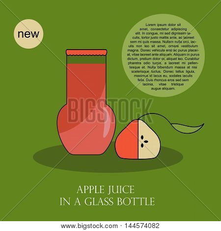 Poster Design with juice in glass bottles. It can be used as a card or banner