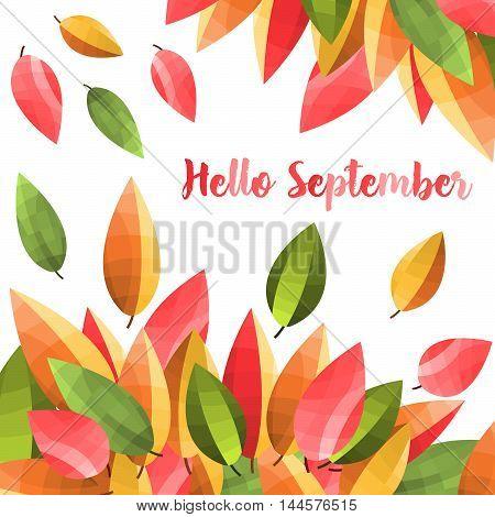 Autumn leaves background . Beautiful autumn illustration Vektor