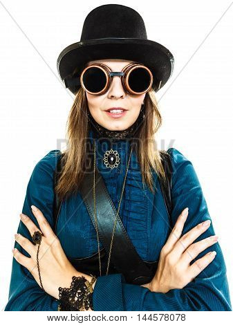 Steampunk Stylished Girl In Hat