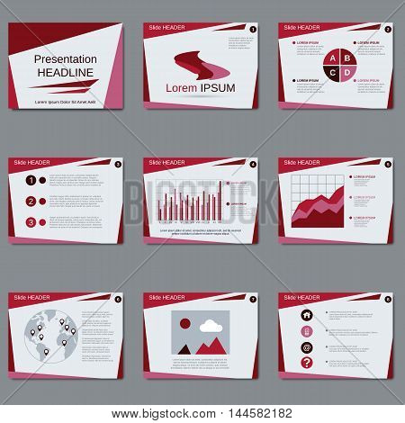Business presentation, slide show geometric vector design template