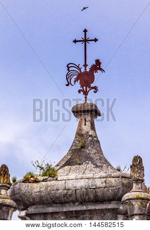 Rooster Tower Igreja do Carmo Convent Church Medieval City Coimbra Portugal. Church founded in 1597. Rooster Portuguese symbol