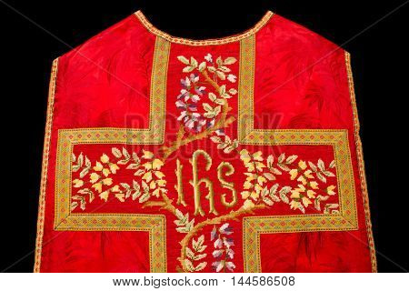 Isolated chasuble or antique vestment of 19th century
