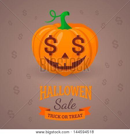Halloween sale background design. Eps 10 vector illustration