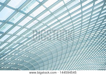 building construction of metal steel framework pattern