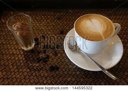 coffee, hot, background, cup, black, brown, drink, breakfast, morning, taste, aroma, caffeine, old, mug, smoke, foam, wood, red, white, vintage, expresso, art, liquid, table, cafe