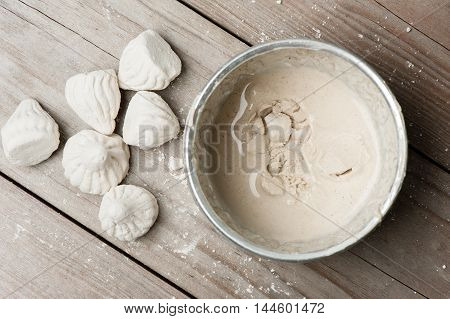 white clay filler or soft-prepared chalk or clay rich in alumina poster