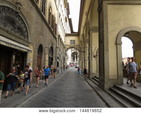 Vasarian Corridor By Ponte Vecchio In Florence