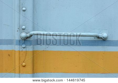 Wall bogies rusty old blue and yellow vintage style.