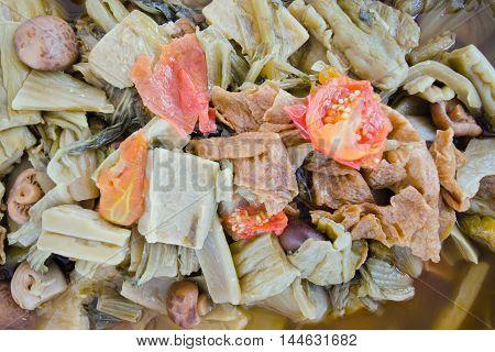 Chinese Vegetable Stew By Thai People (jab Chai Stew)