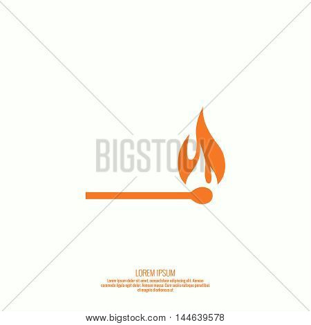 Fire flames. Icon. vector logo design template