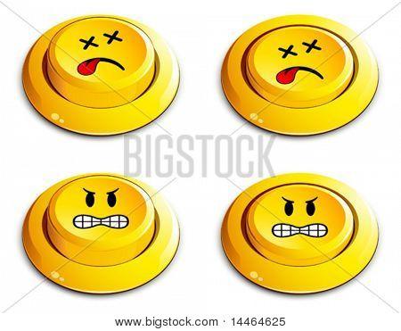 emoticon push button