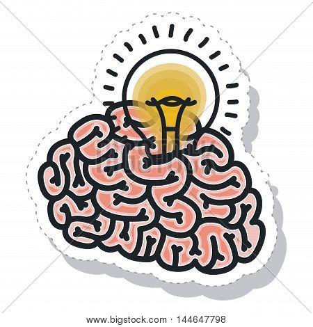 brain storm isolated icon vector illustration design