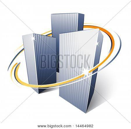 Urban City Skyscrapers