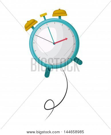 clock alarm time drawing isolated icon vector illustration design
