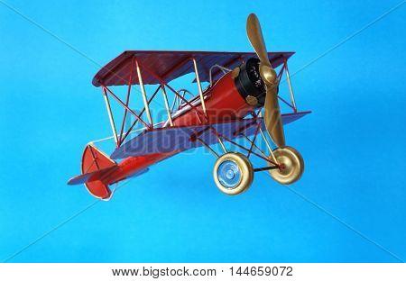 Vintage biplane toy