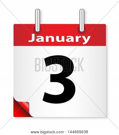 A calender date offering the 3rd January